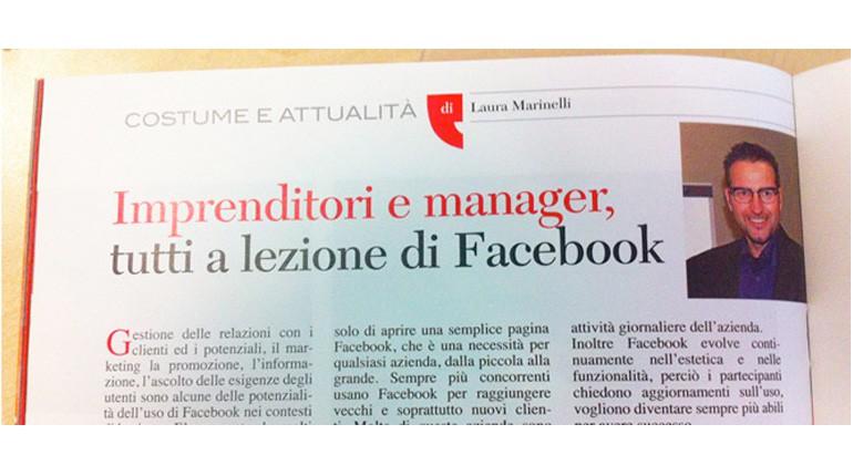 Imprenditori e manager a lezione di Facebook con Daniel Casarin