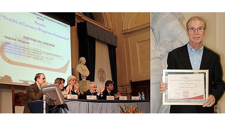 """Luciano Manservigi riceve il premio """"Fedeltà al lavoro e Progresso Economico"""""""